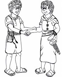 David And Jonathan Bible Lesson Coloring Pages