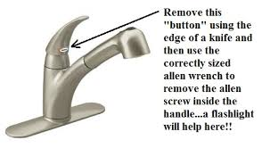 How to remove handle on Moen kitchen faucet Moen Kitchen Faucet
