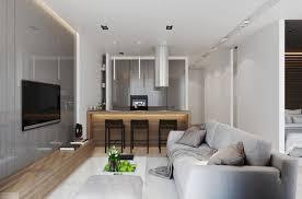 20 qm wohnzimmer einrichten modern grau holz sofa küche