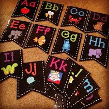 Chalkboard Brights Word Wall Letters