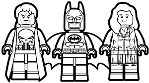 Lego Batman And Punisher Scarlet Witch Coloring Book Pages Kids Fun Art