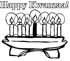 Happy Kwanzaa And Candles Coloring Pages For Kids Printable