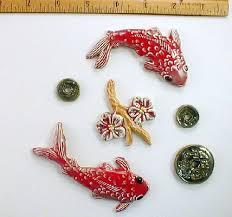 handmade koi fish shaped tiles