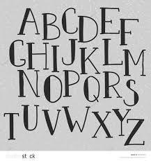 Stock Vector Doodle Alphabet Simple Hand Drawn