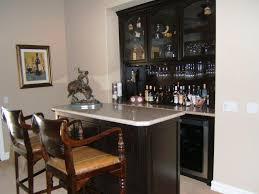 Image Of Dark Bar Hutch Cabinet