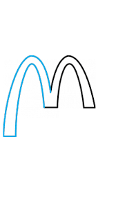 How To Draw McDonalds Company Logo Step By 3