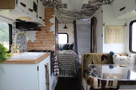 The New Modern Bohemian Interiors Of Renovated RV Photo 2 13
