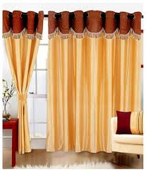 Curtain Rod Set India by Buy Super India Plain 3 Piece Polyester Door Curtain Set 7ft