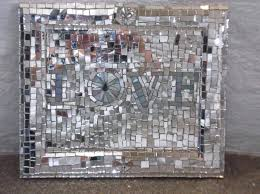 Broken Glass Wall Art Recycled Mirror Cut Mosaic Made With Love Diy