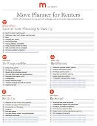 Apartment Moving Checklist First