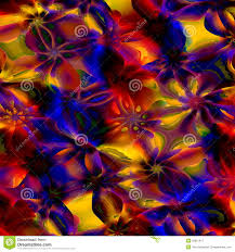 Colorful Abstract Art Background Computer Generated Floral Fractal Pattern Digital Design Illustration Creative Colored Image