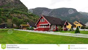 100 Houses In Norway Norwegian House Stock Photo Image Of Vibrant Mountain