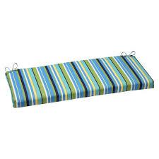 Pillow Perfect™ Outdoor Bench Cushion Topanga Stripe Tar