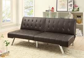 Mainstays Sofa Sleeper Black Faux Leather by Black Leather Futon Leather Tufted Futon Beds Target With Rug For