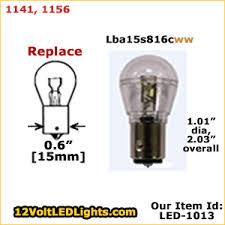 1141 led 1156 led lba15s816c ww 12 volt led bulb ba15s single