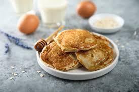 pancakes mit apfel und haferflocken