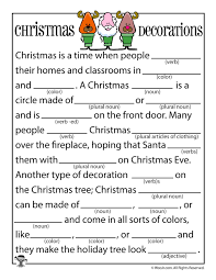 Halloween Mad Libs For 3rd Grade by Christmas Mad Libs Woo Jr Kids Activities