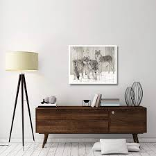Amazoncom Global Gallery Three Grey Wolves On Wood PaperArt37