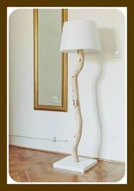 DIY Tree Branch Floor Lamp Would Make A Nice Table With Shorter