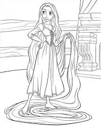 Rapunzel Coloring Page Pages Hellokids Printable