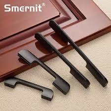 5 stücke schwarz türgriffe küche kabinett knöpfe und griffe metall griff schrank schublade zieht möbel hardware 96 128 160 192mm