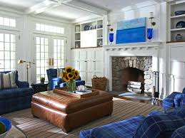 Living Room With Fireplace by Blue White Living Room With Fireplace White Coastal Living Room
