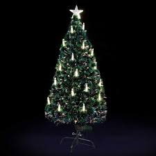 Warm White Candle Fibre Optic Christmas Tree