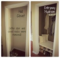 easier way to maybe temporarily turn front closet into a mudroom
