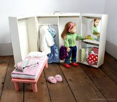 Ana White   Doll Closet - Folding 18 Inch Doll Furniture Storage ... Sheilas Fniture And Crafts Made Pieces For Reese 18 Doll Armoire Victorian Wardrobe Storage Trunk American Girl American Doll Clothes Closet Roselawnlutheran Ana White For Diy Projects Impressive Unfinished Dollhouse 116 Wood Closetarmoire Amazoncom Inch Wish Crown Closet Our Generation Pink Lil