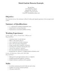 Sample Resume For Customer Service And Cashier Retail Sales