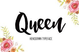 Queen Script Fonts Creative Market