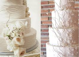 Rustic Winter Wedding Cakes By The Pastry Studio Right Image Left Via Style Me Pretty