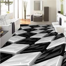beibehang custom tapete 3d schwarz und weiß drei dimensional box badezimmer wand pvc selbst adhesive wasserdichte boden tapete