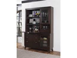 Hillsdale Furniture Denmark Buffet Hutch In Dark Espresso By