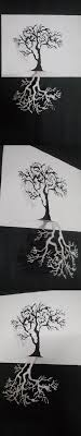 A4 Size Paper Cutting Craft Tree From Single White