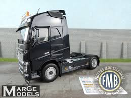 100 4x2 Truck 181002 MarGe Models Volvo FH16 2axle Truck Tractor Black