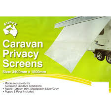 CARAVAN PRIVACY SCREEN 3400 X 1800 SUN SHADE CLOTH - SUIT 12