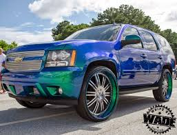 Whips By Wade: Ourageous Painted Chevrolet Tahoe On 30