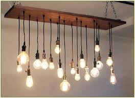 edison light bulb chandelier with fuloon vintage