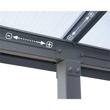 Palram Patio Cover Grey by Palram Olympia Patio Cover 3 X 8 51m Grey At Homebase Co Uk