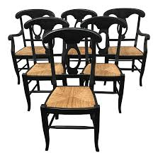Pottery Barn Napoleon Dining Chairs - Set Of 6 | Chairish Ding Tables Pottery Barn Napoleon Chairs Toscana Fixed Room Set 34 Off To Entertain Your Family And Articles With Table Tag Capvating Napoleon 100 Craigslist Three Little Rush Seat Chair Decor Look Alikes W Leg Magnifier Bedroom Sets Astonishing Gallery Best