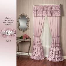 Purple Ruffle Curtain Panel by Curtains Dusty Rose Curtains Walmart Blackout Curtain Liner
