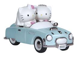 Precious Moments Hello Kitty And Dear Daniel Wedding Couple In Car Cake Topper Figurine