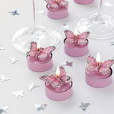 Pink Butterfly Tea Lights Pack buterflies buterfly butterflies