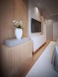 medienwandgestaltung mit tv im schlafzimmer premium foto