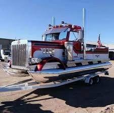 100 Semi Truck Trader Peterbilt Trades Road For Water Becomes Pontoon Boat Carscoops