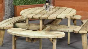 picnic table bench wood seat plans ideas youtube