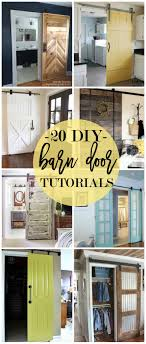 20 DIY Barn Door Tutorials | Diy Barn Door, Barn Doors And Barns Beautiful Built In Ertainment Center With Barn Doors To Hide Best 25 White Ideas On Pinterest Barn Wood Signs Barnwood Interior 20 Home Offices With Sliding Doors For Closets Exterior Door Hdware Screen Diy Learn How Make Your Own Sliding All I Did Was Buy A Double Closet Tables Door Old