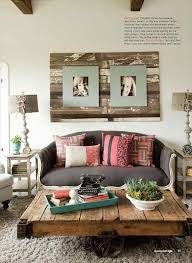 Beautiful Small Living Room Ideas With Wood Pallet Coffee Table Design And Wall Art