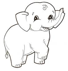 Click To See Printable Version Of Cute Baby Elephant Coloring Page